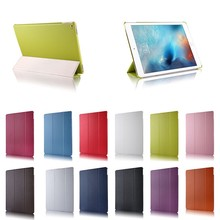 for ipad pro 12.9 leather case, Three Folding standing Leather tablet Case for iPad Pro 12.9 with wake up/sleeping function