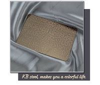 Dark bronze color embossed finish 304 stainless steel sheet for decoration price list
