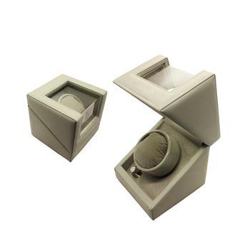 PU Leather Single Safety Watch Winder Box