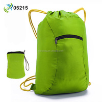 Top Quality 210D Polyester Drawstring Backpack Sport Gym Bag