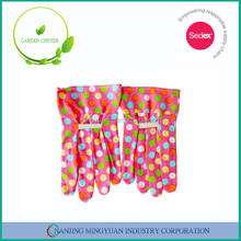 cute Open cuff cotton garden gloves with PVC dots for kids
