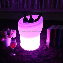Plastic Illuminated LED Lighted Ice Bucket For Party Events Club Bar Used