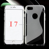 for iphone7, S line clear color TPU mobile phone case