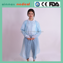 Yellow/White/Blue Isolation Gown Long Sleeves Non Woven Surgical Gown