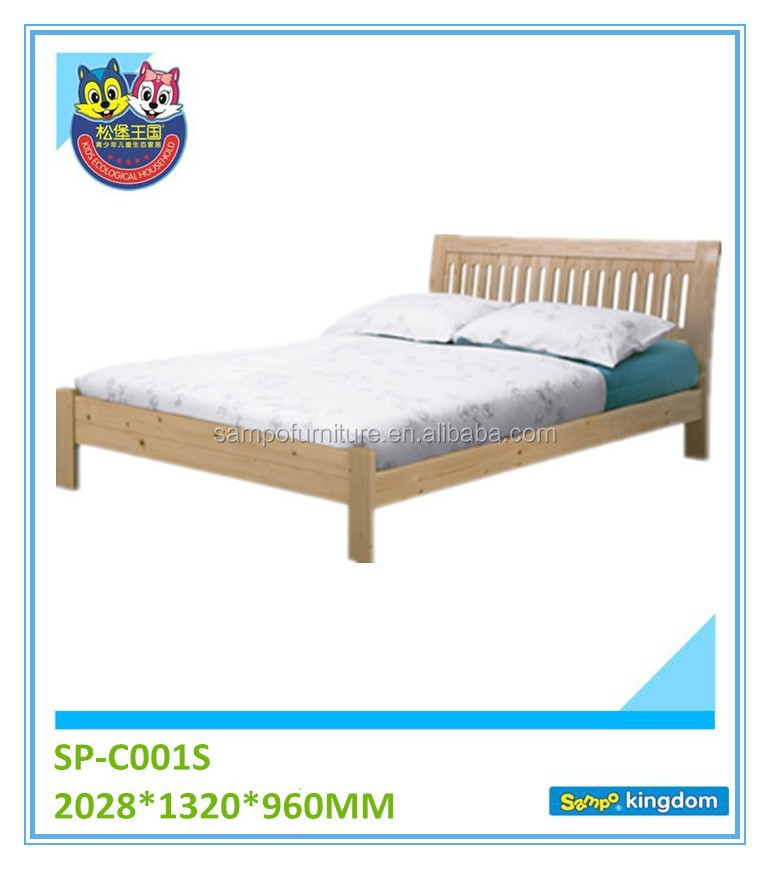 Child Bed Design Wooden Double Single Bed Frame Safety and Healthy Customized Accepted