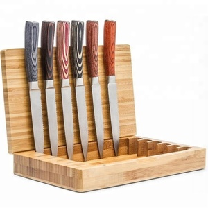 Stainless Steel Blade Wooden Handle 6pcs Knife Sets