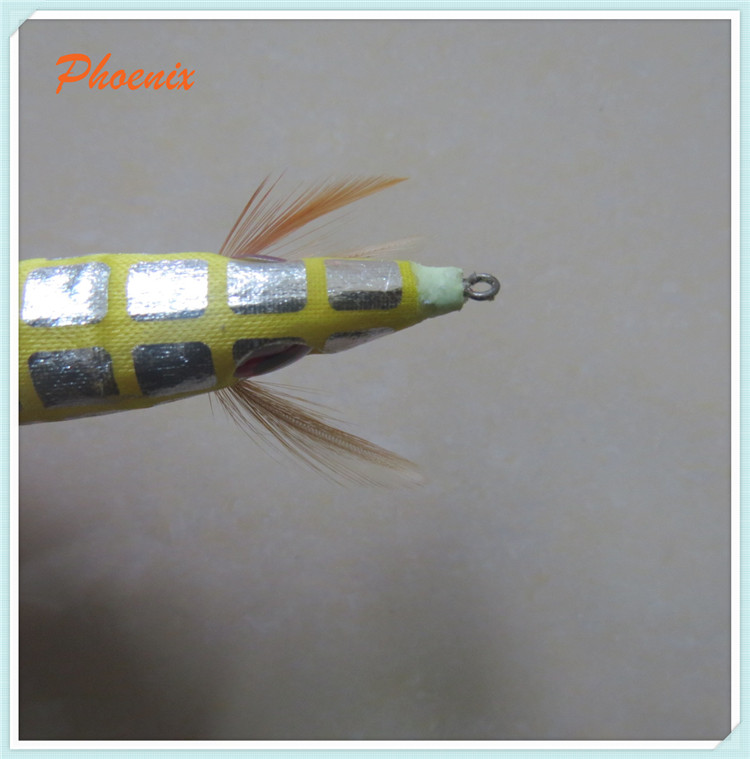10 cm colourful luminours squid jigs hooks
