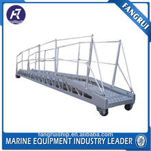 China OEM mooring equipment inclined aluminum ship ladder