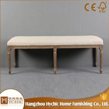 China Manufacturer Offer Wood Leg End Table Safe Ottoman and Benches