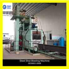 Small Auto Roller Conveyor I Beam Sheet and Profile Steel Shot Blasting Pretreatment Line Polishing Machine