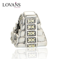 Good Quality Pyramid Beads Bracelet Accessories Women Silver 925 Jewelry Making
