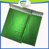 metallized packaging,christmas self-sealing gift bag;metallic bubble mailer