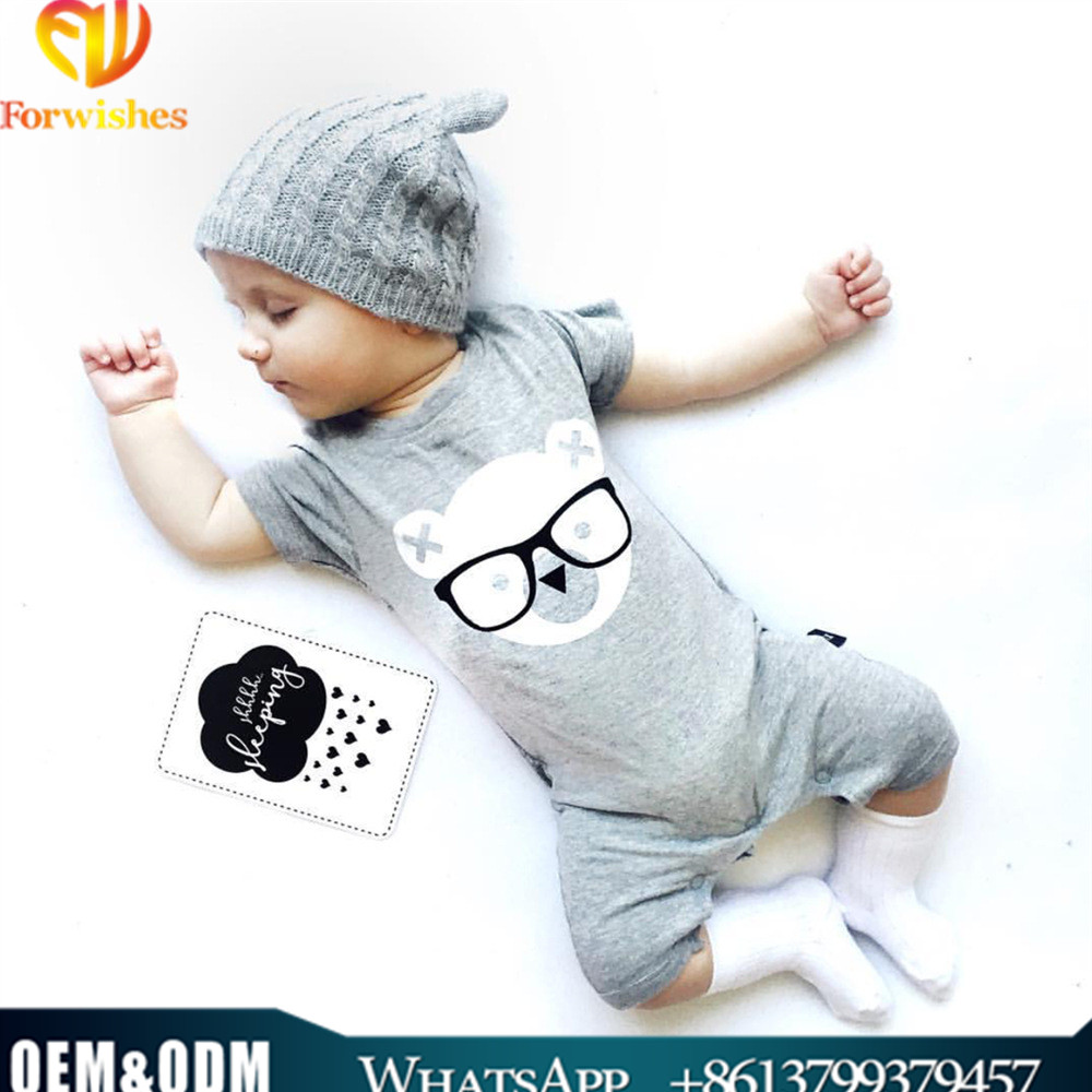 2017 baby rompers infants and toddlers clothes printed baby clothes