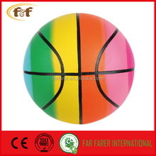 5 # Rainbow rubber basketball / Beautiful colorful basketball/iridescent ball