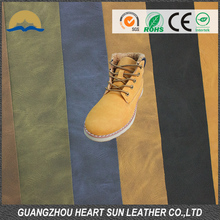 "54"" width various colors artificial/synthetic leather yangbuck leather for shoe making"