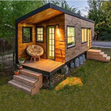 Light steel prefab tiny house container home