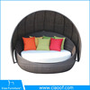 Colorfull Artificial Rattan Teak Daybed