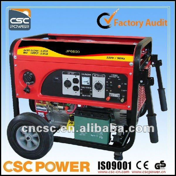 electricity generators 5kw home use with ISO CE