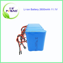 3s1p 18650 lithium 12v rechargeable battery pack 2600mah for digital photo frame