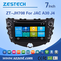 ZESTECH HD Car DVD GPS Navigation Autoradio Headunit Navi Stereo Radio for JAC A30 J4 free map card