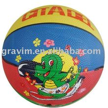 Size 4 Printed Colorful Rubber Basketball