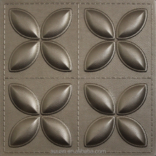 Guangdong Factory Luxury Leather 3D Wall Decor Panel