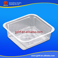 Clear Rectangular Plastic PET bread/cake/snack food blister container