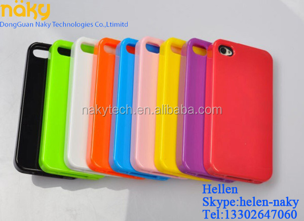 For iPhone 4 / 4S Colorful Contrast TPU Case