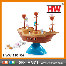 Children wooden pirate ship toys pirates