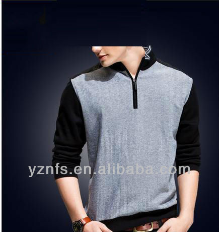 2013 new design fashion hot seller mens cotton long sleeve t-shirt