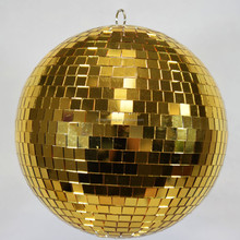Big size gold color hanging disco mirror balls for sale