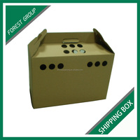 UNIQUE DESIGN CUSTOM CORRUGATED SHIPPING BOX PET CARRIER PACKING BOX WITH HANDLE