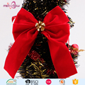 Christmas velvet ribbon bow with christmas bell