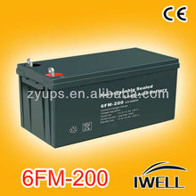 Power Inverter UPS Solar Systems Battery 12V 200AH Backup 12V DC Battery