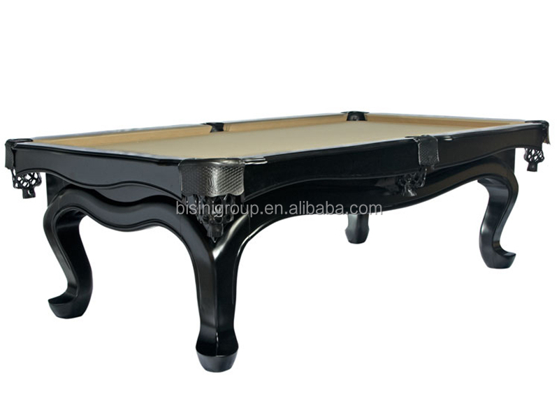 Polish Painting Hand Carving Pool Table Solid Wood Pool Table