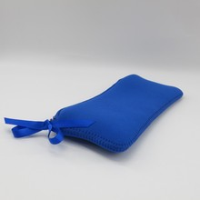 round fashion durable royal blue cosmetic case