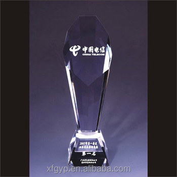 cheap k9 crystal glass trophy award