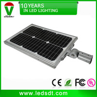 economic adjustable 12w 20w 30w integrated solar led street light with sensor