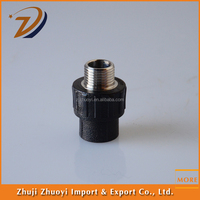 sewage treatment socket joint male threaded coupling hdpe pipe fitting