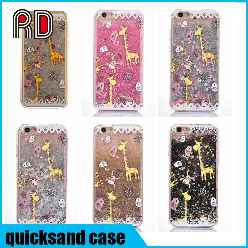 Giraffe monkey animal print Floating Luxury Bling Glitter Sparkle Stars Hard Case for samsung s7 s7edge s6 s6edge s5 s4 note 5 4