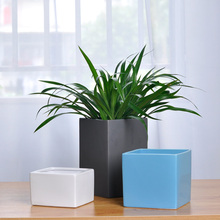 Modern square flower pots ceramic without drainage holes