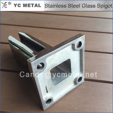 Square Type Stainless Steel Mounted Spigots For Glass Balustrade