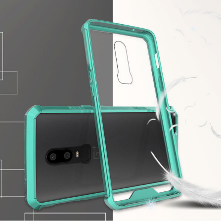 mobile phones <strong>accessories</strong> transparent tpu frame for oneplus 6 case