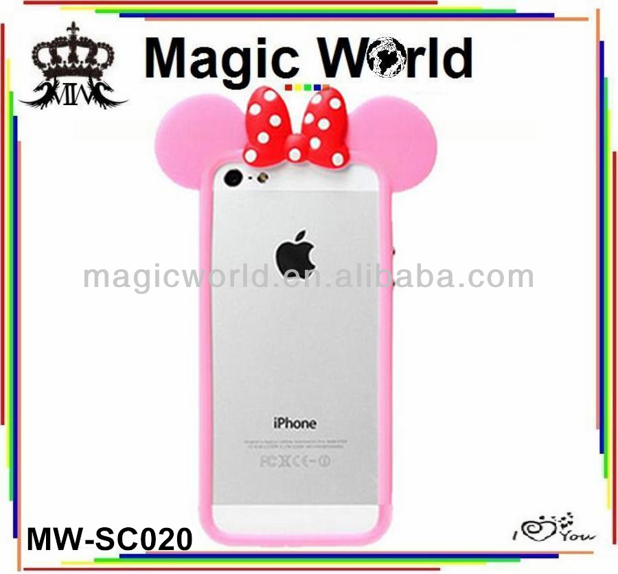 CUTE SILICONE BUMPER FOR IPHONE 5 5S