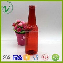 PET high-quality decorative round empty sealed plastic fake champagne bottles for display