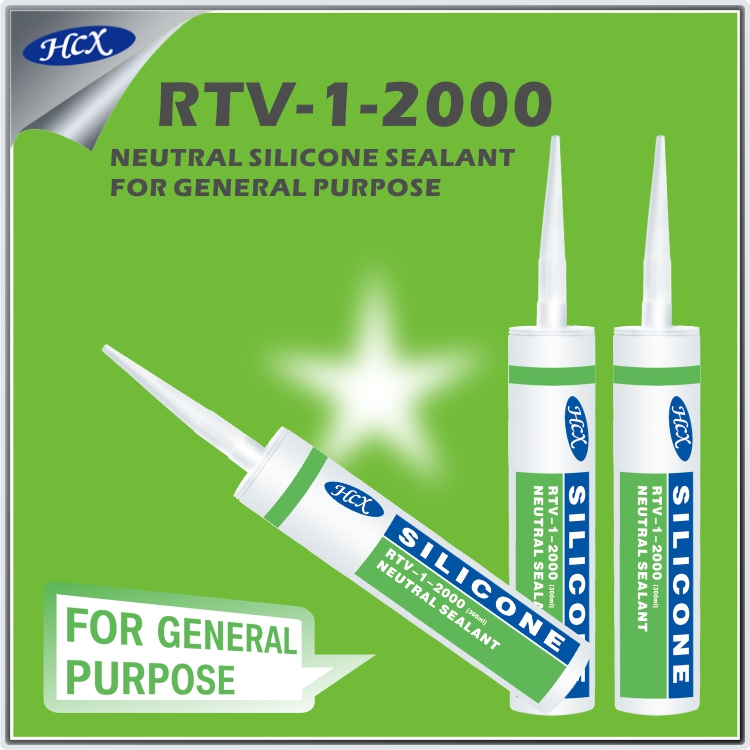 Neutral silicone sealant type rtv silicone adhesive sealant on general purpose structural silicone sealant