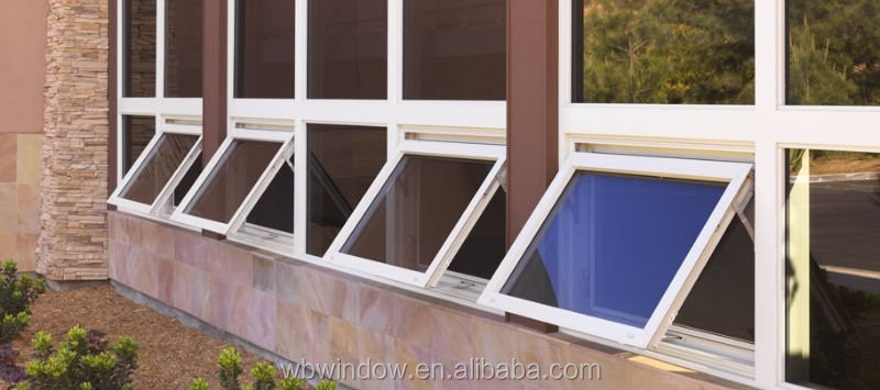 Cheap house windows for sale plastic material top hung for Cheap house windows for sale