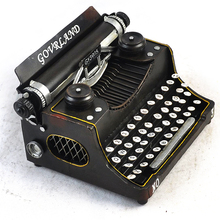 1651 1:2 Scale Antique Crafts Home Decorations Metal Typewriter Model