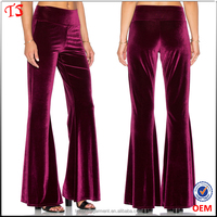 Top quality factory european style clothing jersey women velvet pants