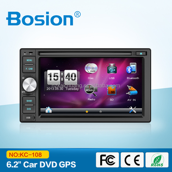 car DVD 2 din 6.2 inch touch screen with GPS,Ipod,Bluetooth,PIP,SWC